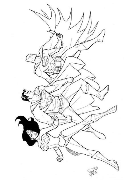 justice league coloring pages  printable justice