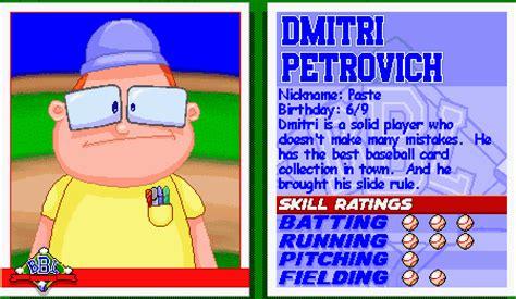 Backyard Baseball Dmitri Petrovich 1997 Ai Plays Backyard Baseball Postponed