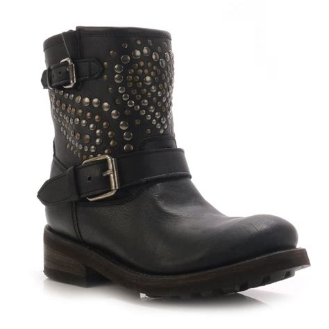 womens biker boot 21 model studded biker boots womens sobatapk com