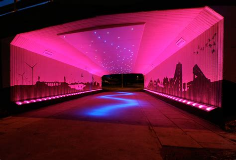 Led Light Design Bigg Design Transforms A Drab Scottish Underpass With