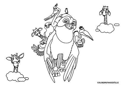 Color Ins Zambezia Coloring Pages by Color Ins