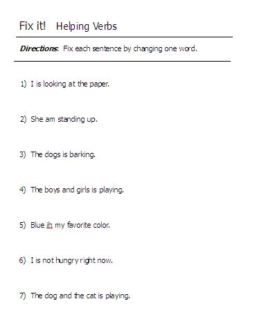 Helping Verb Worksheets by Helping Verbs Word Lists Activities Worksheets And