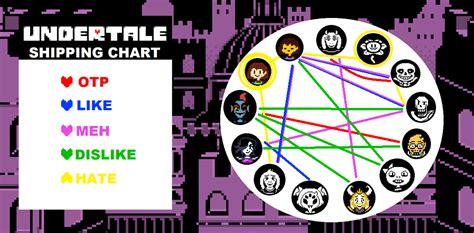 undertale shipping chart by koyuuki sama on deviantart