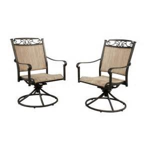 Hton Bay Swivel Patio Chairs Hton Bay Santa Swivel Rocker Patio Dining Chair 2 Pack S2 Adq10801 The Home Depot