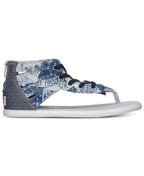 finish line sandals lyst converse s chuck gladiator