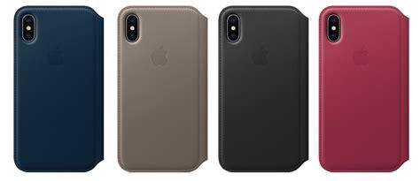 Iphone X Leather Folio Casing Flip Cover Original Standard apple flip cover folio originale in pelle per iphone x