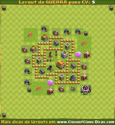 layout de guerra cv 5 layouts para cv5 em guerra clash of clans dicas