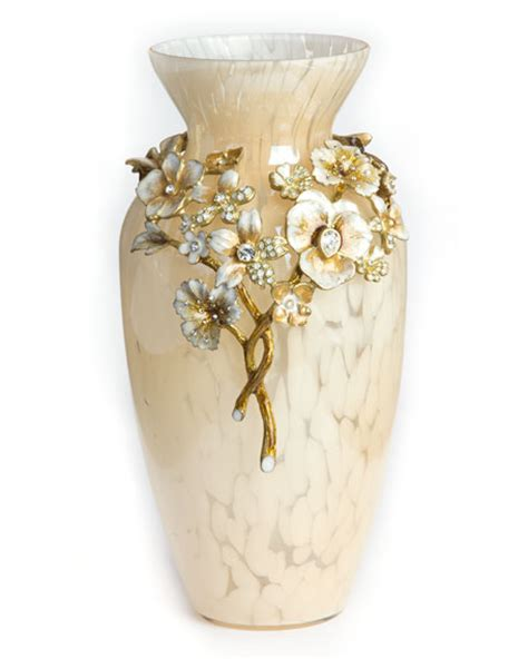 Ivory Vase by Strongwater Ivory Bouquet Vase