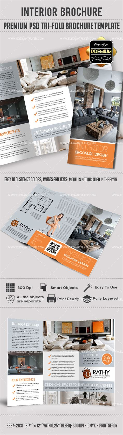 3d Brochure Templates Psd by Psd Brochure For Interior Design By Elegantflyer