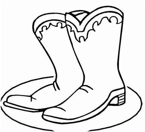 Boots Coloring Pages To Print boot coloring pages coloring home