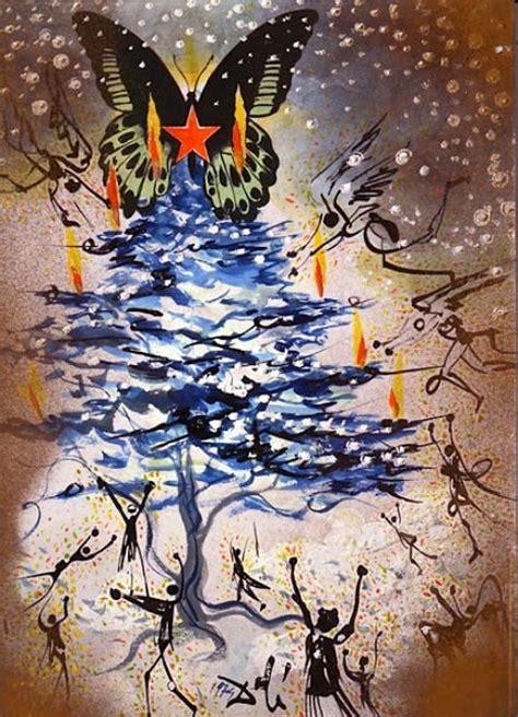 salvador dal 237 s avant garde christmas cards open culture