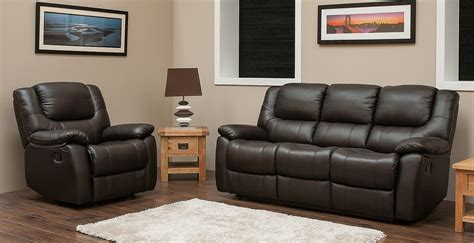 Harveys Leather Sofa Harvey Reclining 3 1 1 Leather Sofa Suite Available In Espresso Brown