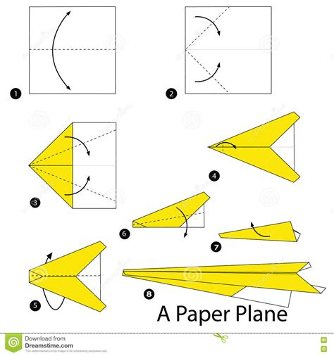 How To Fold A Paper Jet - step by step how to make origami a plane