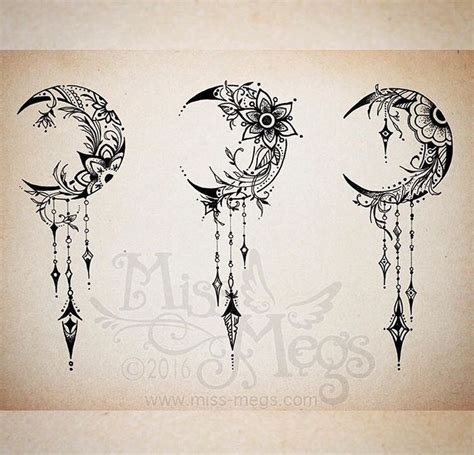 moon flower tattoo design the 25 best crescent moon tattoos ideas on