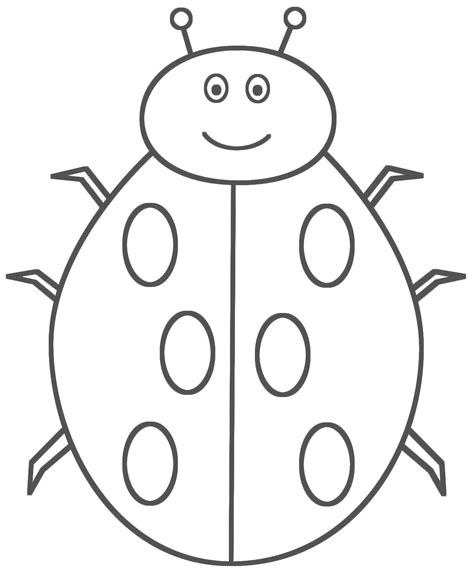 bug template printable bug template pencil and in color bug template