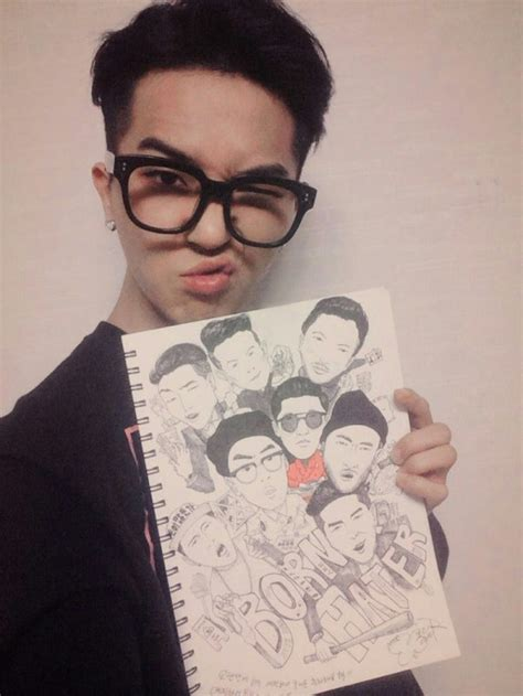 born hater bts winner s mino draws a caricature of quot born hater quot artists