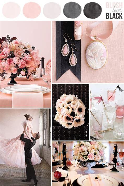 25 chic blush and black wedding ideas hi miss puff