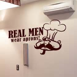 Wall Stickers For Men Real Men Wear Aprons Wall Sticker Chef Wall Art