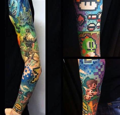8 bit tattoo 60 8 bit designs for cool retro ink ideas