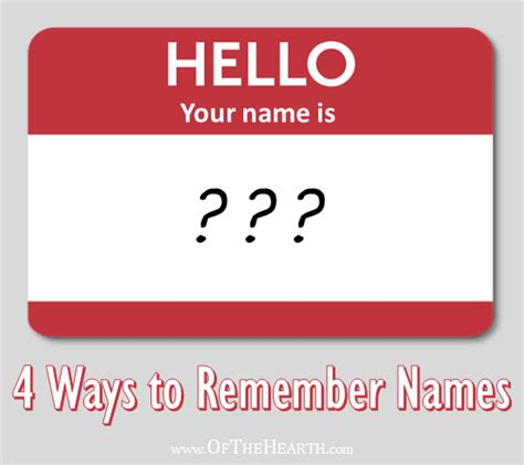 Easy Ways To Remember The Name Of The You Just Met by 4 Ways To Remember Names