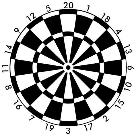 printable dart board targets printable archery targets clipart best