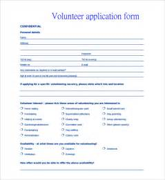 Application Forms Templates by Volunteer Application Template 15 Free Word Pdf