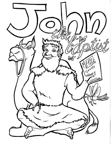 the baptist coloring page the baptist coloring page children s ministry deals