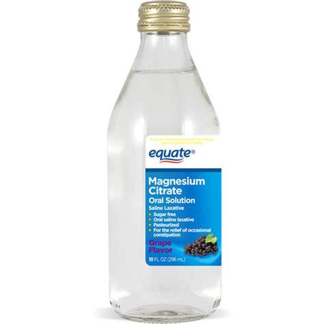 laxative walmart equate grape flavor magnesium citrate solution saline laxative 10 fl oz