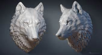 Home Design Game Youtube Wolf Head Digital Sculpture 3d Model Max Stl Obj Files