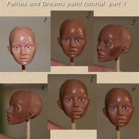 doll lesson painting tut info on genesis paint brushes and cleaning