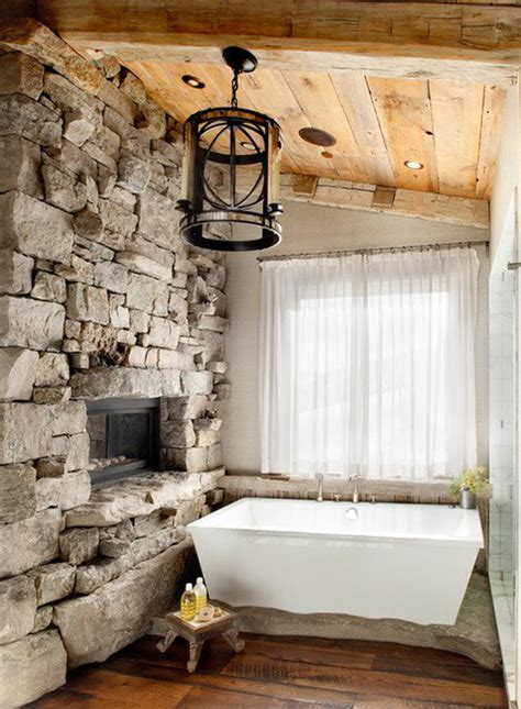 Fireplaces Bath by Country Home Bath With Fireplaces
