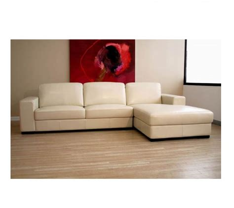 cream leather chaise wsi 3022 j050 chicago cream leather sectional sofa with
