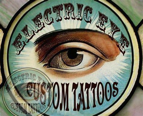 electric tattoo logo monicamoses electric eye custom tattoo logo