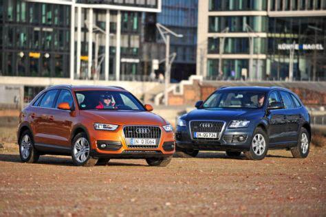 Vergleich Audi Q3 Und Q5 by Suv Vergleich Audi Q3 Gegen Audi Q5 Autobild De