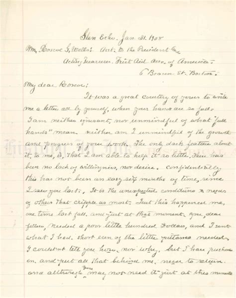 clara barton humanitarian from official records letters and contemporary papers classic reprint books clara barton autograph handwritten letter to friend