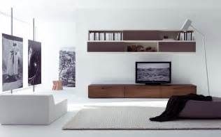 Living Room With Free Tv Appeliang Brown Television Wall Cabinet Design Idea With