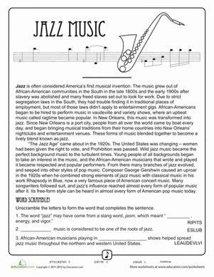 jazz history worksheets 22 best images about worksheets on pinterest homeschool