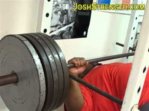 495 bench press robert wilkerson 495 dead bench press youtube