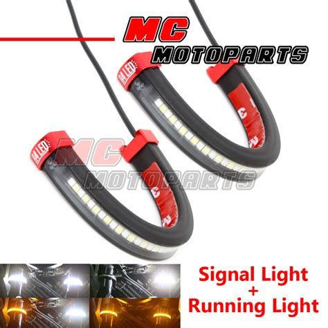Fork Lights by Led Front Fork Light Turn Signal Running Indicator For