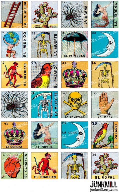 how to make loteria cards loteria collage sheet vintage loteria cards mexican