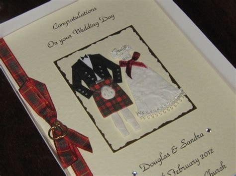 Personalised Handmade Wedding Cards - personalised handmade scottish wedding card