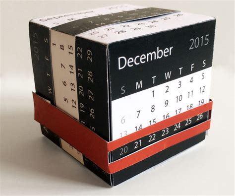 cube calendar template calendar cube for instructables