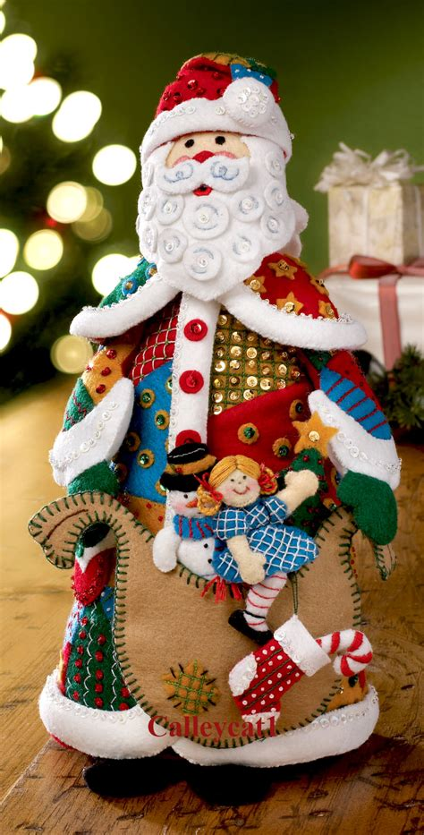Patchwork Santa - patchwork santa bucilla felt 3d home decor kit 86206