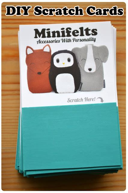how to make your own scratch cards minifelts diy how to make your own scratch cards