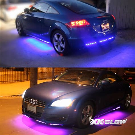 glow lights for cars 3 million color 8pc led under car glow underbody neon
