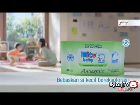 Tisu Basah Mitu Tissu Basah Mitu Mitu Baby Wipes 20 Sheets iklan mitu baby antiseptic tisu untuk anak