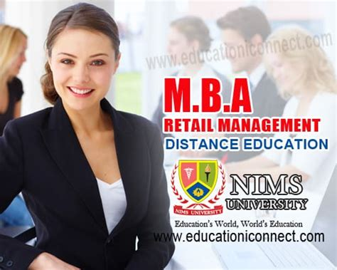 Retail Mba Distance Learning by Mba Retail Distance Education Nims