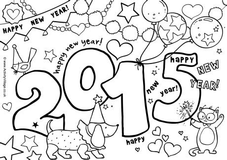 coloring pages for new years 2015 14 new years day coloring page print color craft