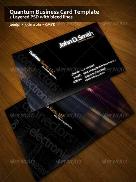 quantum business card template graphicriver