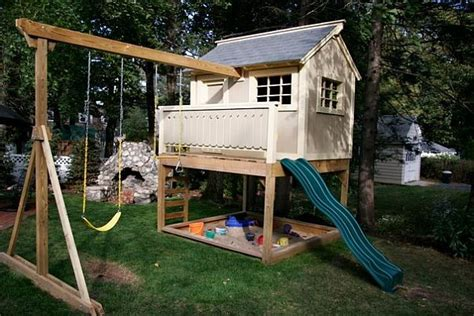 play swing set plans playhouse with swing set memes